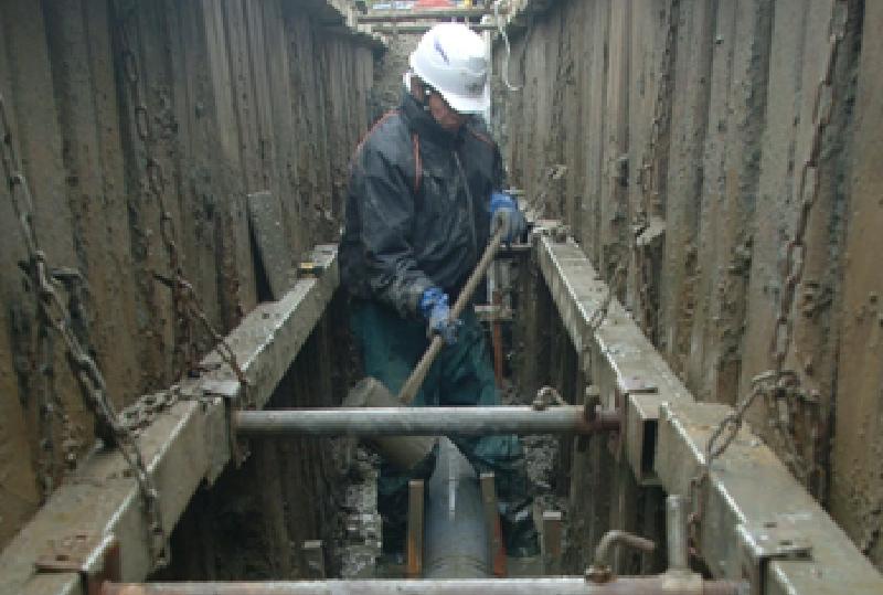 配水管、下水道等の土木工事